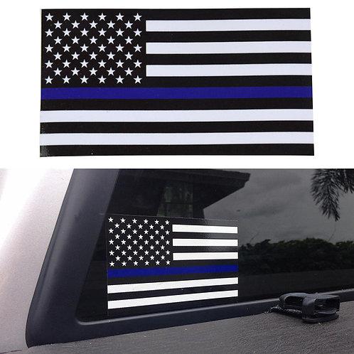 מדבקת קיר לרכב - דגל קצין משטרה אמריקאי