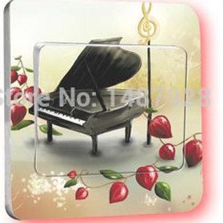 מדבקת קיר פסנתר - למפסק