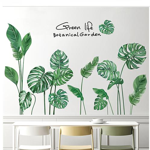 עלים טרופים ירוקים לעיצוב הבית