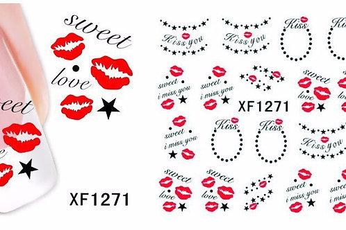 XF1271 - מדבקת ציפורניים