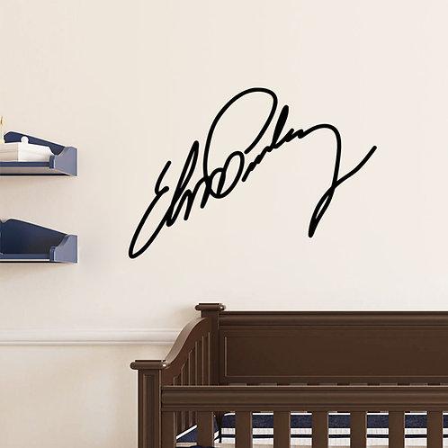 Elvis Signature -מדבקת קיר - חתימה של אלביס