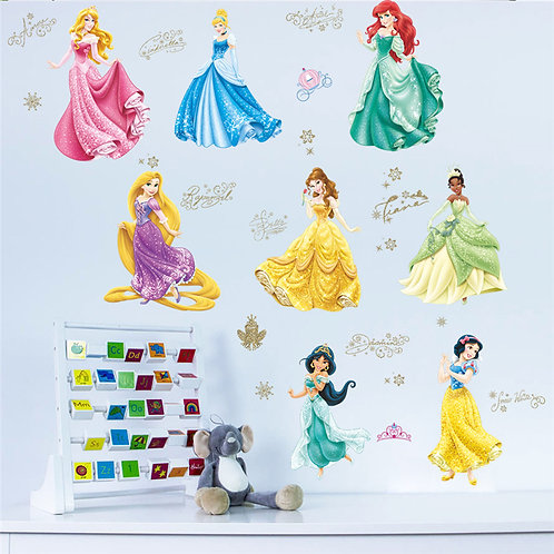 The lovely princesses - מדבקת קיר - הנסיכות האהובות