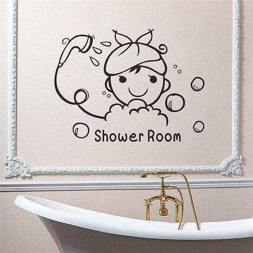 Shower Room - מדבקת קיר - חדר רחצה