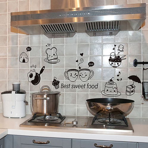 מדבקת קיר למטבח - האוכל המתוק הטוב ביותר