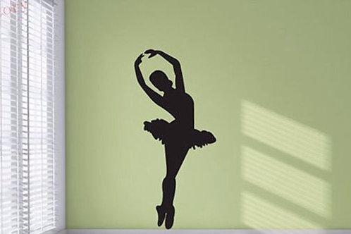 Ballet Dancer Silouette - מדבקת קיר - רקדנית בלט