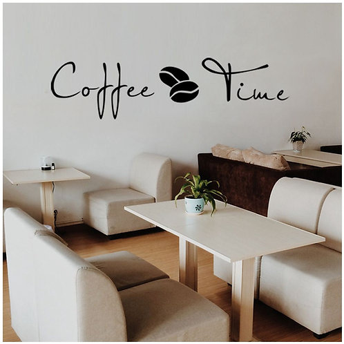Coffee Time - מדבקת קיר זמן קפה