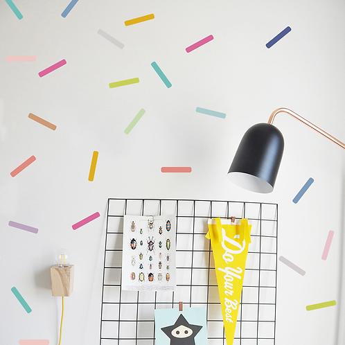 מדבקת קיר צורות גאומטריות דמוי טפט לחדרי ילדים