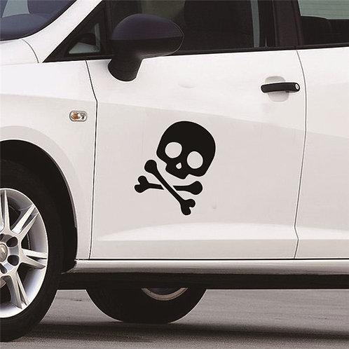 Cool Skull - מדבקת קיר לרכב - גולגולת מגניבה