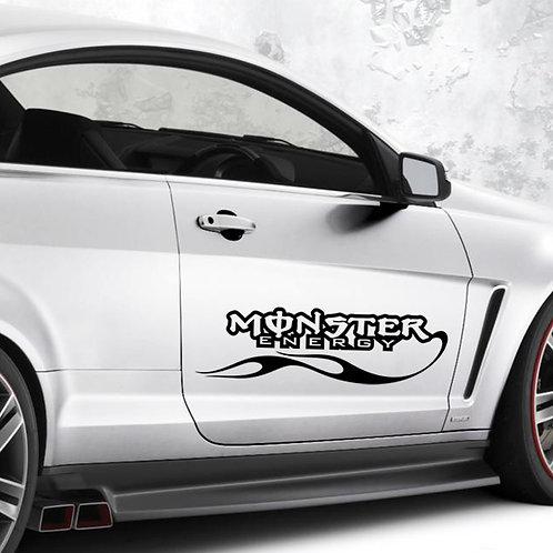 Monster energy - מדבקת קיר לרכב - עוצמה