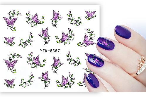 YZW8357 - מדבקת ציפורניים