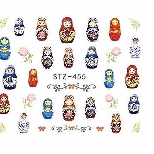 STZ455 - מדבקת ציפורניים