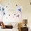 Thumbnail: מדבקת קיר סחלב כחול וורוד עם פרפרים