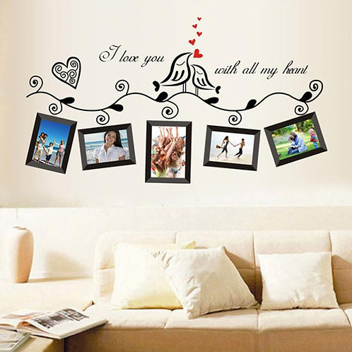 I love you with all my heart - מדבקת קיר - תמונות של אהבתנו למזכרת