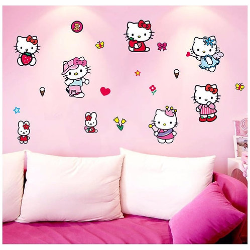 Hello Kitty - מדבקת קיר קומיקס הלו קיטי