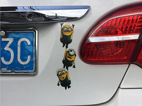 The Minions - מדבקת קיר לרכב - המיניונים