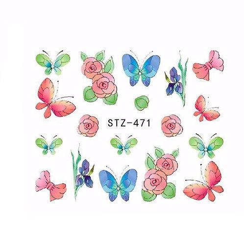 STZ471 - מדבקת ציפורניים