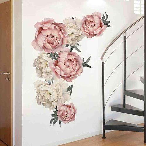 מדבקת קיר - ורד אדמוני לעיצוב הבית