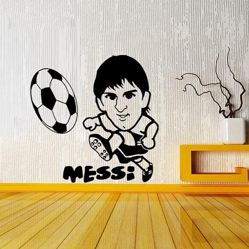 Lionel Messi - מדבקת קיר כדורגל מסי