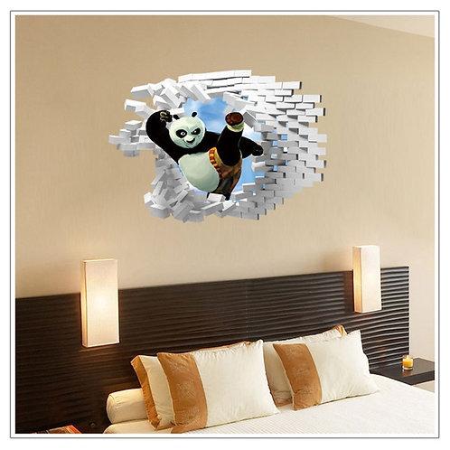 Kong Fu Panda - מדבקת קיר תלת מימד - קונג פו פנדה בפעולה