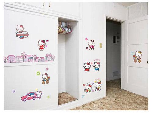 Hello Kitty - מדבקת קיר - הלו קיטי