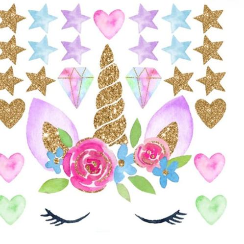 חד קרן לבבות וכוכבים