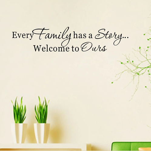 מדבקת קיר- לכל משפחה יש סיפור