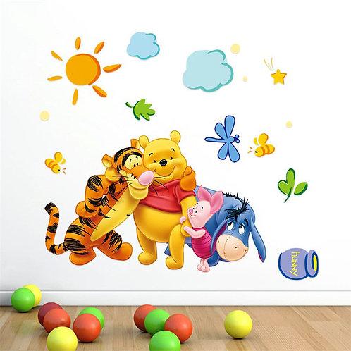 מדבקת קיר - פו הדוב וחברים