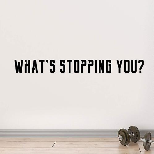 מה עוצר אותך?