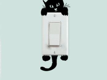מדבקת קיר חתול מתבונן