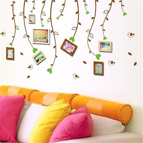 Memories - מדבקת קיר ענפים עם לבבות לתמונות מזכרת