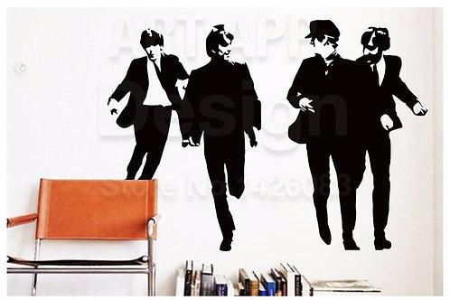 The Beatles - מדבקת קיר - להקת החיפושיות
