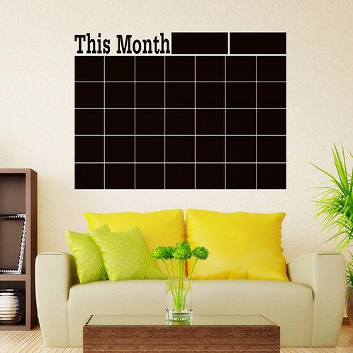 מדבקת קיר - לוח גיר - תוכנית חודשית