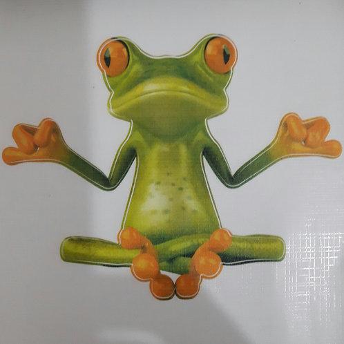 Yoga Frog - מדבקת קיר - צפרדע עושה יוגה