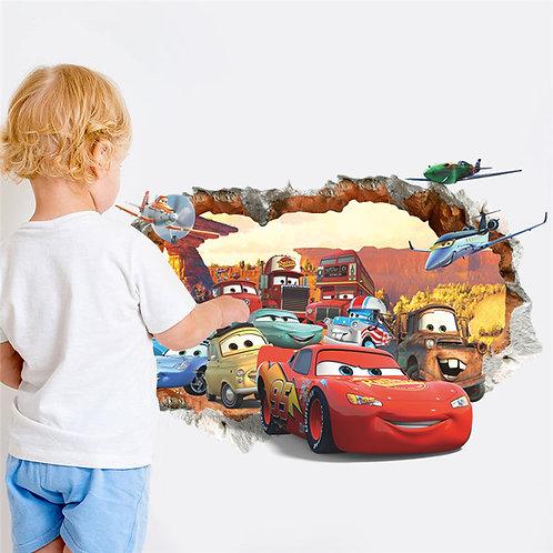 מדבקת קיר - מכוניות - ספידי והחברים
