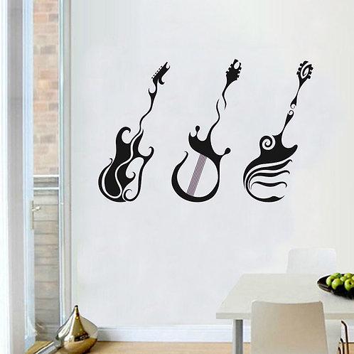 Artistic Guitars - מדבקת קיר גיטרות אומנותיות