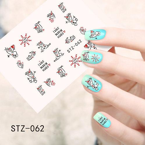 STZ062 - מדבקת ציפורניים