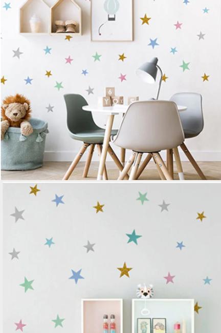 מדבקות קיר- כוכבים לחדר הילדים ולעיצוב הבית