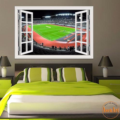 Football Stadium - מדבקת קיר איצטדיון כדורגל בינלאומי 1
