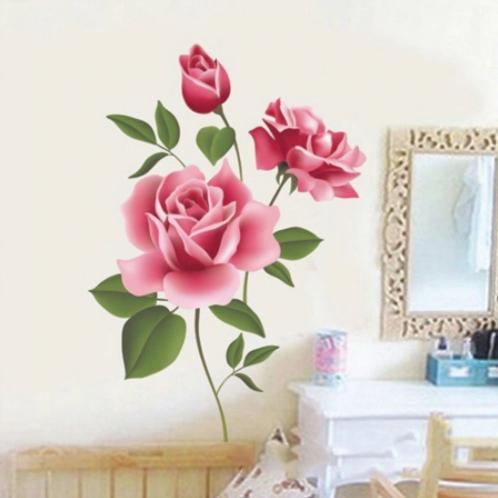 פרחי ורדים רומנטיים תלת מימד