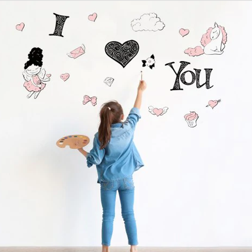 מדבקת קיר קריקטורה לחדר ילדים
