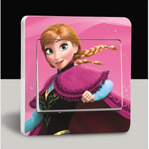 מדבקת קיר הנסיכה אנה - לשבור את הקרח - למפסק