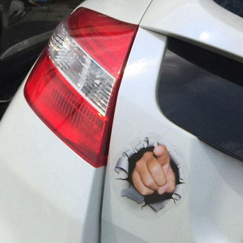 Finger -  מדבקת קיר לרכב - הצבעה באצבע מחור ברכב