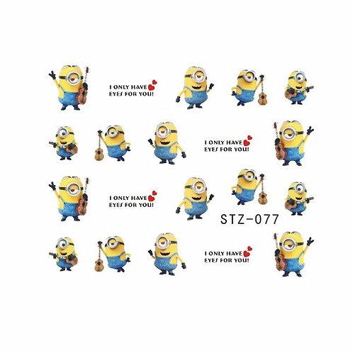 STZ077 - מדבקת ציפורניים