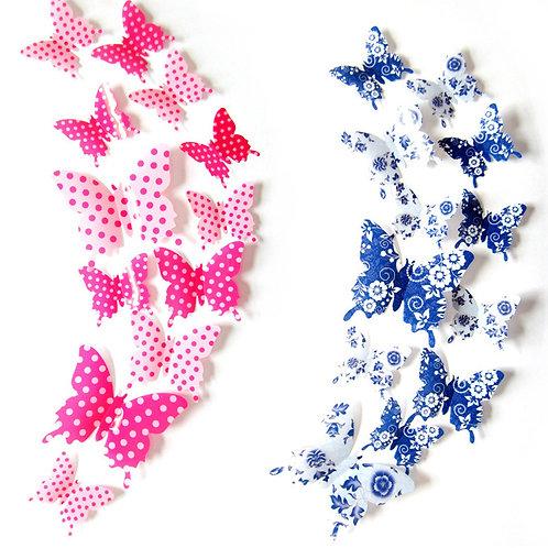 Blue & Pink Butterflies - פרפרים צבעוניים בגווני כחול וורוד