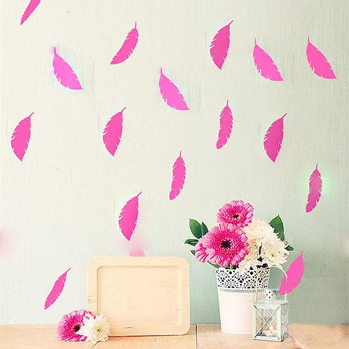 מדבקת קיר - דמוי טפט - שלל צבעים - נוצה