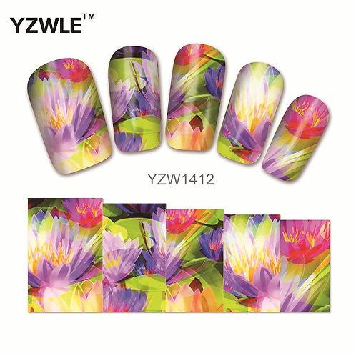 YZW1412 - מדבקת ציפורניים