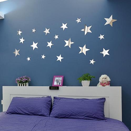 מדבקת קיר כוכבים- מראה