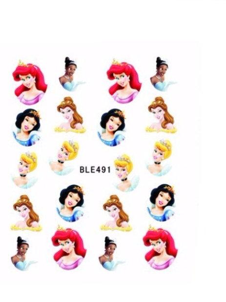 BLE491 - מדבקת ציפורניים - נסיכות