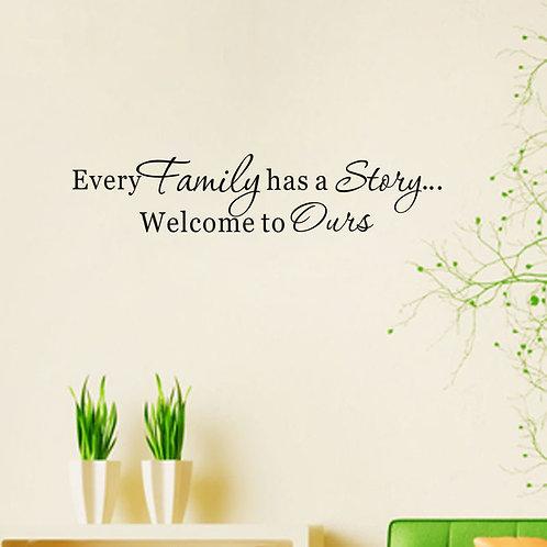 Family has a story..מדבקת קיר לכל משפחה יש סיפור