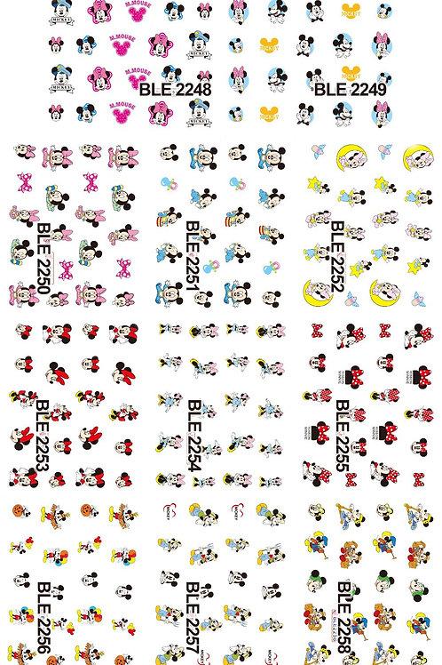 BLE2248-2258 - סט מדבקות ציפורניים